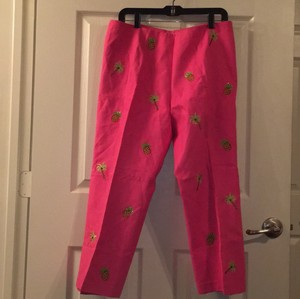 Jade by Melody Tam Capris Pink With Details