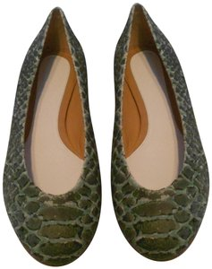 Maison Margiela Stunning Style Made In Italy Green Flats