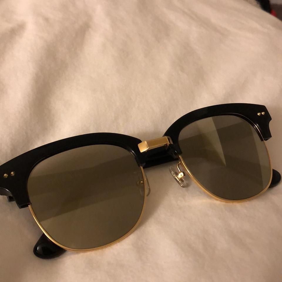 2b302d53358f Gentle Monster Black Gold Mirror Second Boss Sunglasses - Tradesy