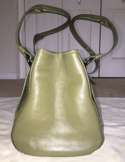 Kenneth Cole Reaction Genuine Leather Shoulder Flap Crinkle Leather Satchel in Green