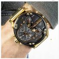 Diesel New Diesel DZ7333 MR DADDY 2.0 Gold Multiple 4 Time Zone Chrono Watch