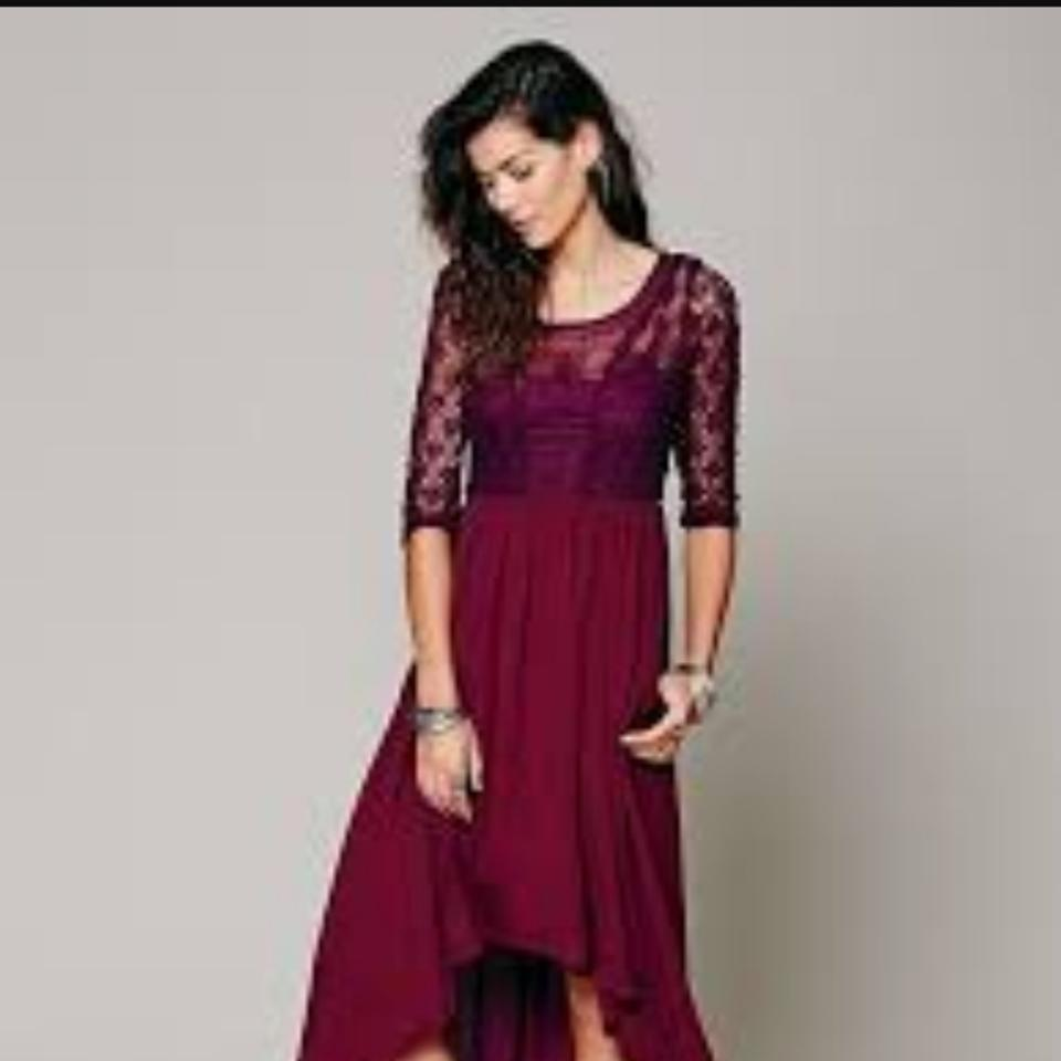 bd8b1706282e Free People Plum Fp Lonesome Dove Long Casual Maxi Dress Size 12 (L ...