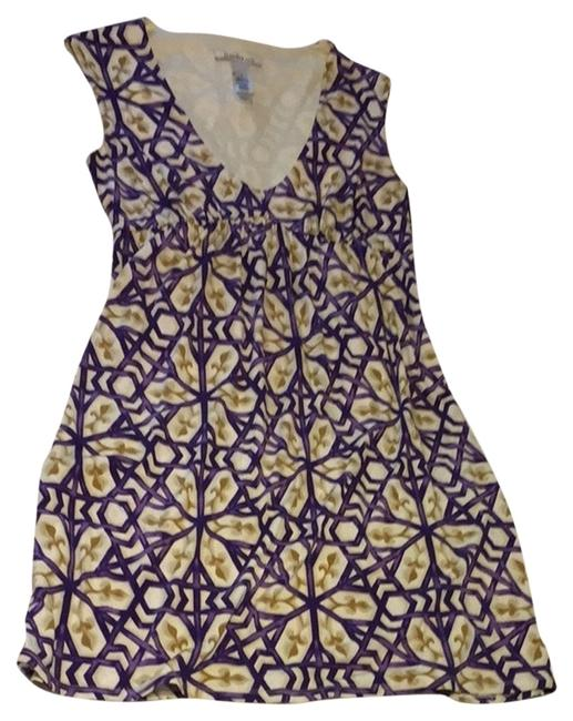 Laundry by Shelli Segal short dress Ivory Purple Gold on Tradesy