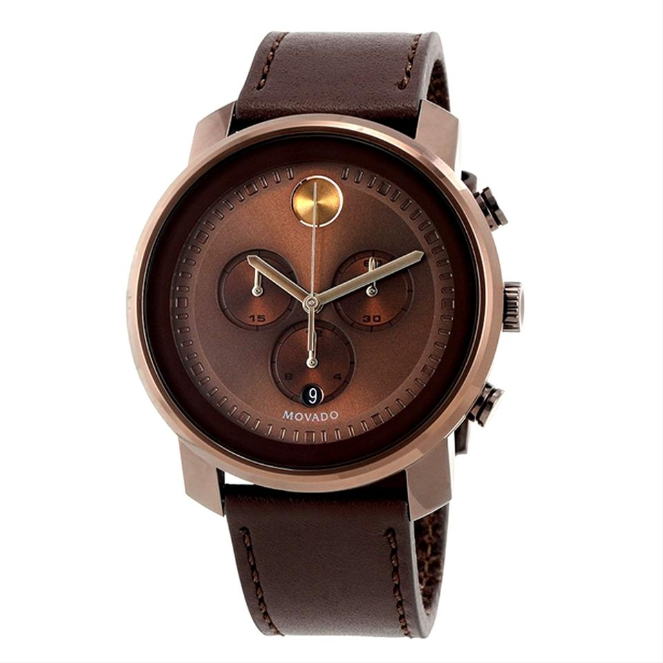 Movado brown bold chronograph stainless steel dial men s