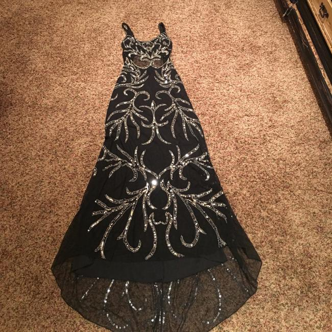 Item - Black and Silver Long Formal Dress Size 8 (M)