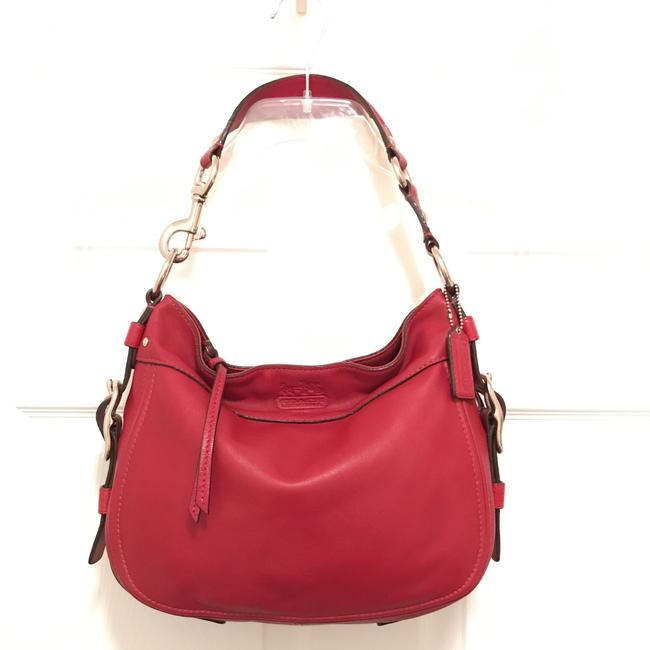 Item - Zoe F12671 Red Silver Leather Hobo Bag