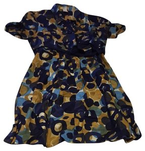 Kensie short dress Navy Tan Blue on Tradesy