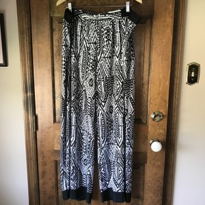 Ruby Rd. New With Tags Plus-size Pull Wide Leg Pants Black White