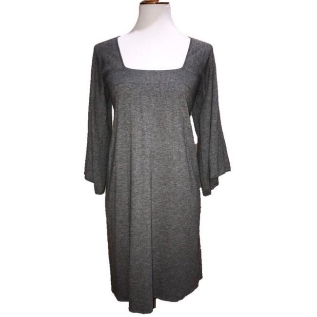 Item - Gray Cashmere Wool Blend Boho Sweater Mid-length Short Casual Dress Size 4 (S)