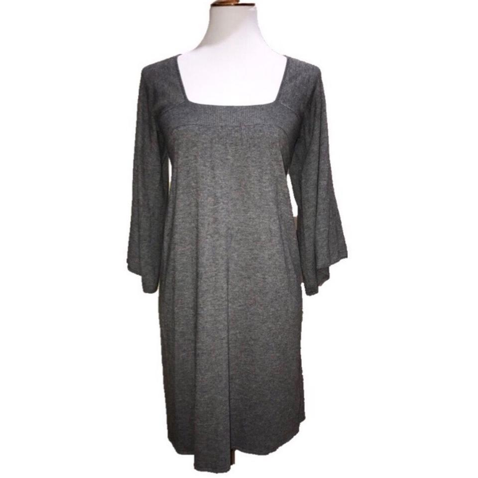 04ae64a75 Joie Gray Cashmere Wool Blend Boho Sweater Mid-length Short Casual ...