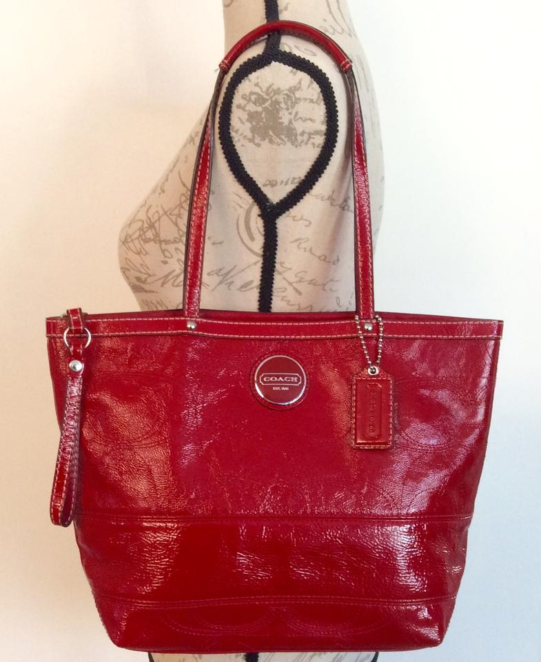 456179c45dfe ... coupon code for coach patent leather purse signature c h1020 f15142  tote in red c0b46 cce64