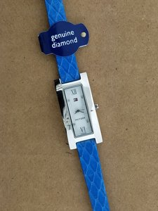 Tommy Hilfiger Tommy Hilfiger 1001 Women's Blue Leather Genuine Watch