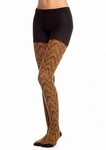 Free People FREE PEOPLE Sweater Tights Long Stretchy Black Pull On Stockings NEW