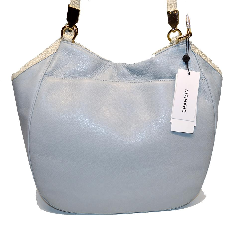 5d939e833 Brahmin Shoulder Marianna Laced Mineral Moulay Leather Hobo Bag ...