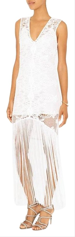 b74a89a54b44 White Intermix Exclusive Fringe Hem Lace Dress S Xs Cover-up Sarong
