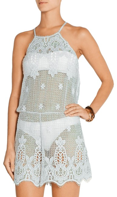 Item - Blue/Green Cicely Sky Mint Crochet Cotton Playsuit Romper Jumpsuit S Cover-up/Sarong Size 4 (S)
