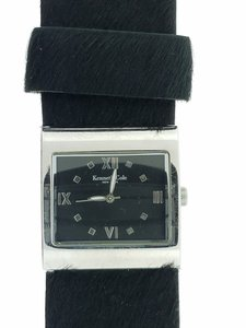 Kenneth Cole Kenneth Cole 8008 Women's Black Leather Band Genuine Watch