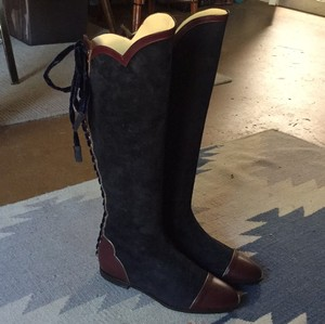 O Jour navy and burgundy Boots