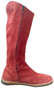 Camper Suede Leather Crepe Red Boots