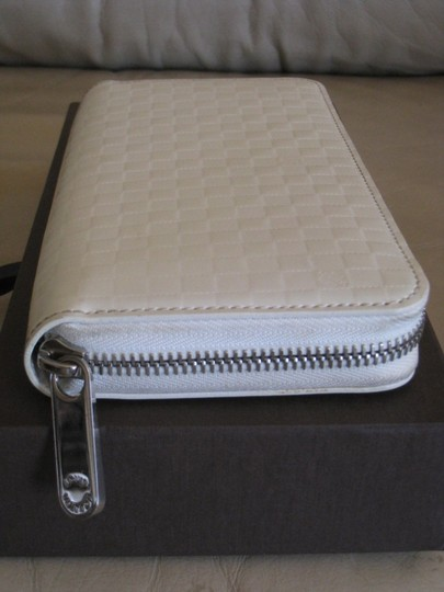 Louis Vuitton Super *RARE* LIMITED EDITION LOUIS VUITTON Damier Checker Large Zippy Wallet Purse Creme White - Facette Collection - ORIGINAL OWNER
