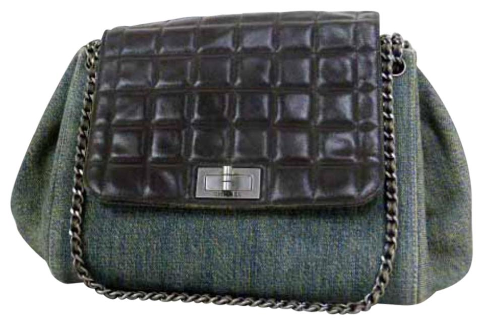 ea77be13c887 Chanel Denim Chocolate Bar Quilted Classic Flap Shoulder Bag Image 0 ...