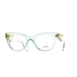 Miu MIu VMU03N-TIV-1O1 Cat Eye Women's Transparent Green Frame Eyeglasses