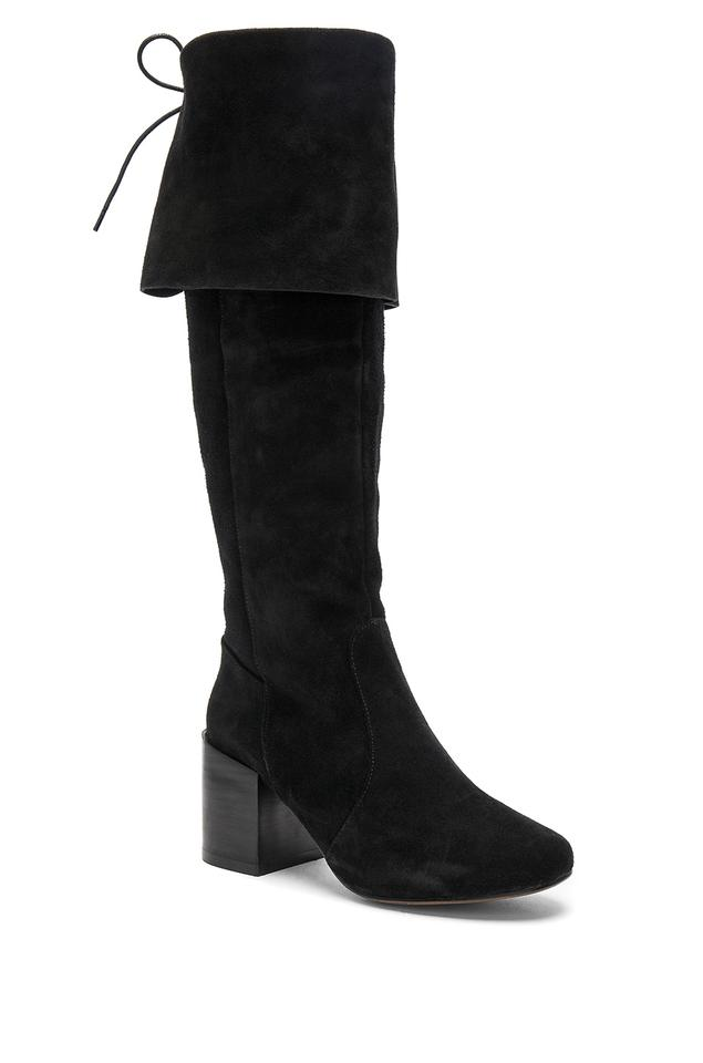 Matiko Black Fabulous Corset Style Tie Extra Tall Pirate Style Corset New Boots/Booties b1229c
