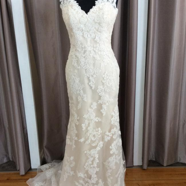 Item - Ivory/Light Gold Lace 5471 Traditional Wedding Dress Size 10 (M)