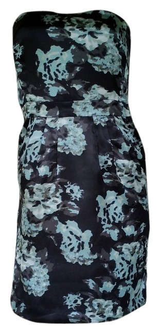 Banana Republic Strapless Satin Boned Floral Dress