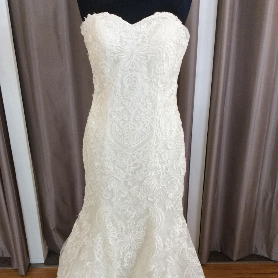 Justin Alexander Ivory 8786 Traditional Wedding Dress Size 10 (M ...