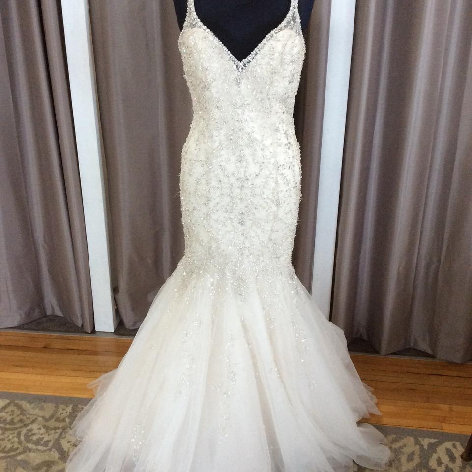 Mori Lee Ivory Light Gold 2823 Traditional Wedding Dress Size 10 (M ...