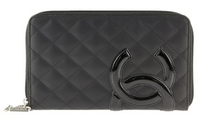 Chanel Quilted Ligne Cambon Large Zippy Wallet
