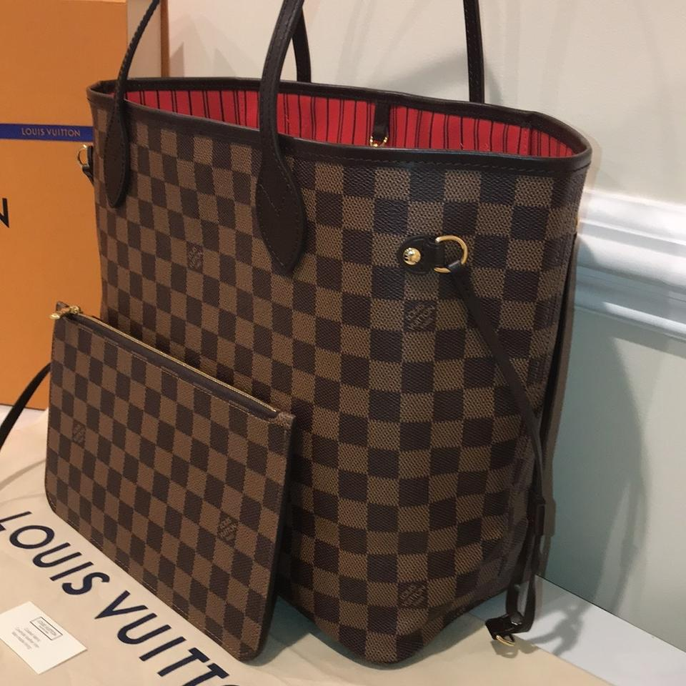 e89858acd1f2 Louis Vuitton Neverfull 2017 Sold Out Mm Damier Ebene Canvas Tote ...