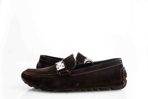 Louis Vuitton * Brown Suede Loafers Shoes