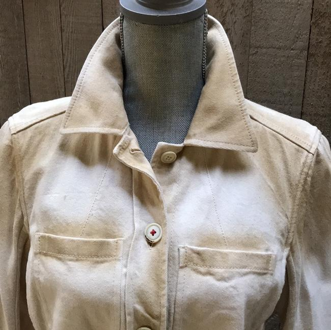 Prada cream with ombre Womens Jean Jacket