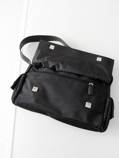 Mango Nylon Large Black Messenger Bag