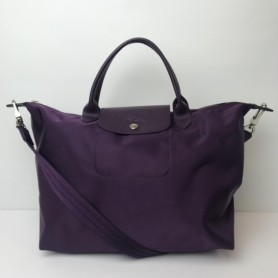 09cf12f7e482 Longchamp Medium Le Pliage Neo Purple Nylon Tote - Tradesy