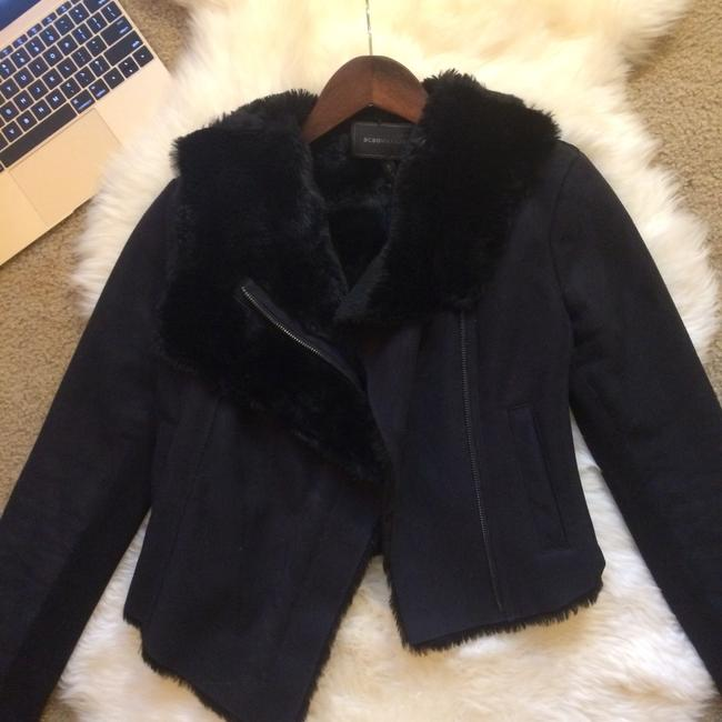 Item - Black Faux Suede Cropped Jacket Coat Size 2 (XS)