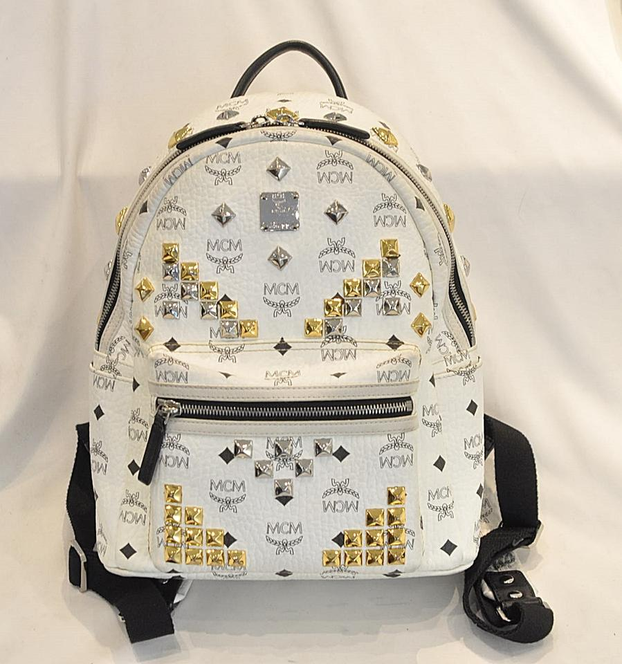 6788d3a0f5f Mcm White Mini Backpack - CEAGESP