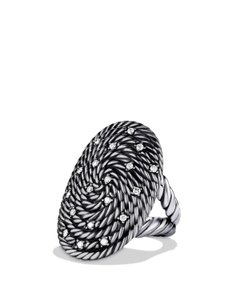 David Yurman Coil Ring with Diamonds