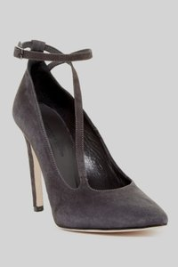 Charles David Suede Leather Sole Charcoal Gray Pumps