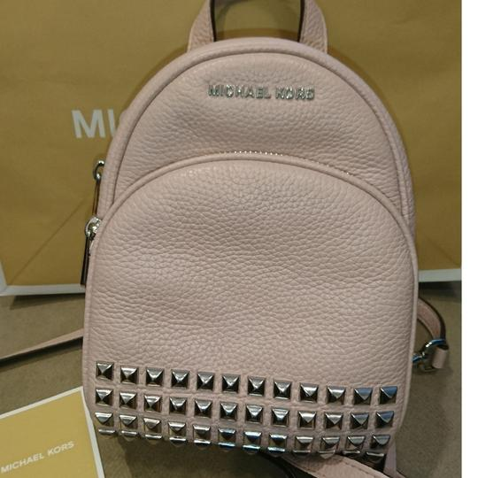 85621dfaafba Shoptagr | Mini Crossbody Convertible Stud Nude Leather Backpack by ...