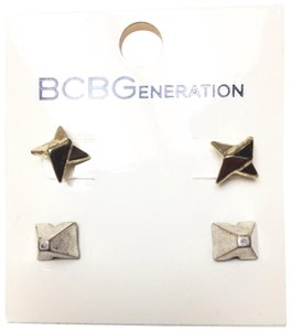 BCBGeneration vintage faux gold and silver spike stud earrings