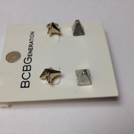 BCBGeneration vintage faux gold and silver spike stud earrings Image 1
