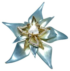 Alexis Bittar ALEXIS BITTAR Limited Edition Large Flower Pin Brooch Ombre Lucite