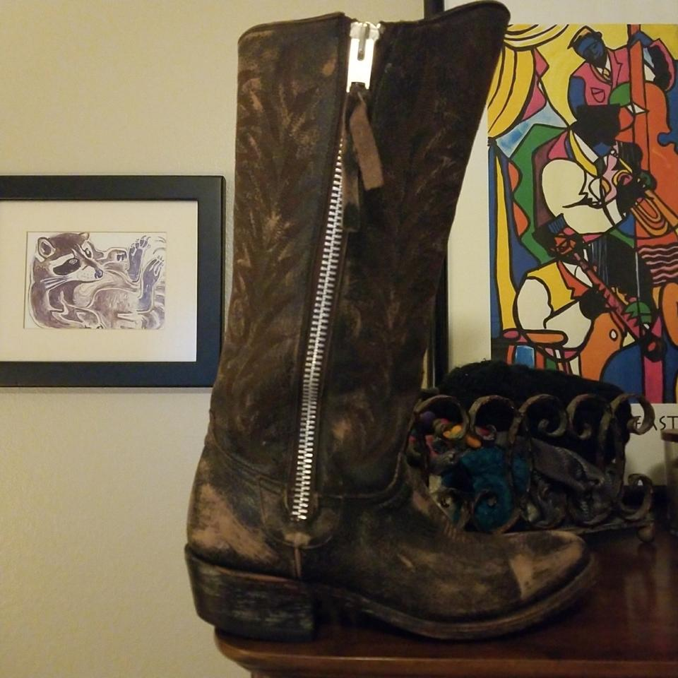 Old Gringo Boots/Booties Brown Leather Distressed 56643409 Boots/Booties Gringo 0a89a7