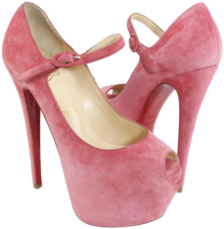 d86fc0c2f Christian Louboutin Lady Highness 160mm Mary Jane Pink Platforms Image 0 ...