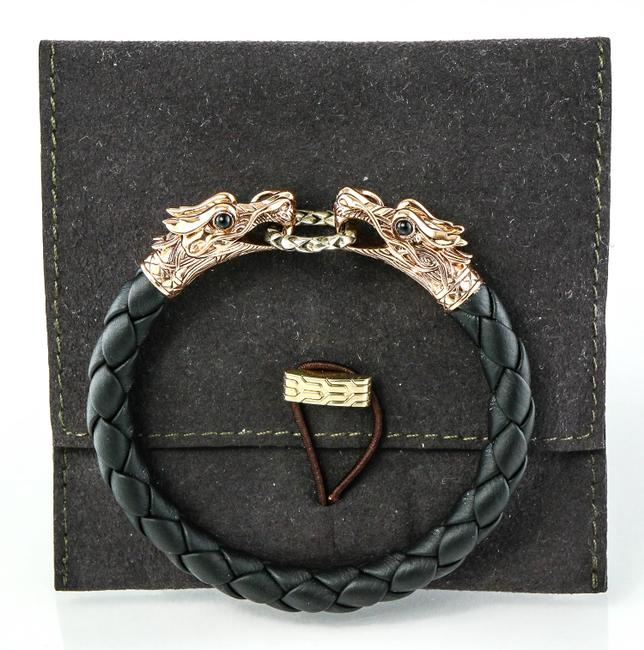 Item - Bronze and Sterling Silver * Naga Double Dragon Head Bracelet