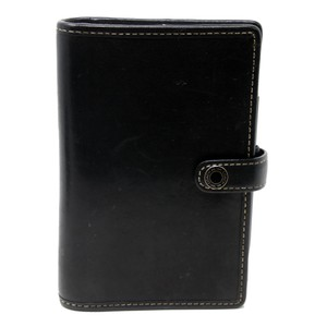 Coach Signature Soft Leather Agenda Planner Notepad Travel Accessory