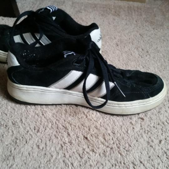 adidas Men's black and white Athletic